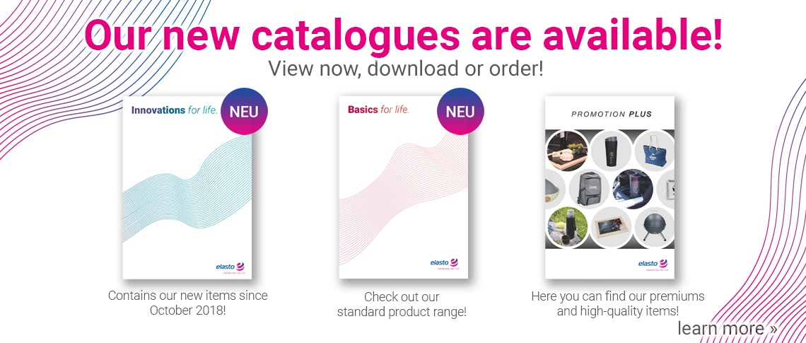 Our new promotional items catalogues